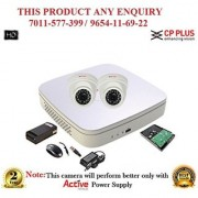 Cp Plus 1.3 MP Full HD 4CH DVR + Cp plus HD Dome IR CCTV Camera 2Pcs + 1TB HDD + POWER SUPLAY + BNC + DC CCTV COMBO