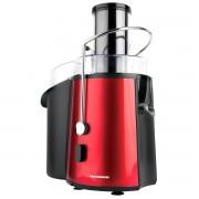 Storcator de fructe si legume Heinner TurboMax XF-1000RD, 1000 W, Recipient suc 1 l, Recipient pulpa 2 l, 2 Viteze + Pulse, Tub de alimentare 75 mm, Negru/Rosu