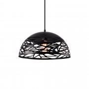 [lux.pro]® Dekoratívní designové závěsné svítidlo / stropní svítidlo - černé (1 x E27) HT169911