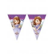 Grinalda de bandeirolas Princesa Sofia
