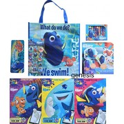 Finding Dory Childrens Activity Past Time Activities Value Pack Gift Set, Tote Bag,Color & Play Coloring Books, Crayons,Tub Time Activity, Confetti Stickers & Pencil Case