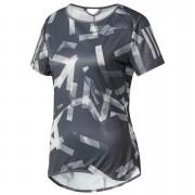 adidas Women's Response Running T-Shirt - Grey/White - XS - Grey/White