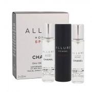 Chanel Allure Homme Sport eau de toilette twist and spray 3x20 ml da uomo