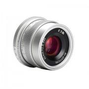 Obiectiv manual 7Artisans 35mm F2.0 Silver pentru Canon EF-M