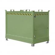 Klappbodenbehälter Volumen 2,0 m³ resedagrün RAL 6011