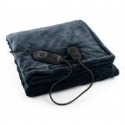 Klarstein Dr. Watson XL електрическо одеяло120W, приятна, 180x130cm, плюш, сив цвят (HZD2-Dr.Watson-XL-GR)