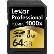 Lexar Professional 1000x 64GB SDXC UHS-II Card - LSD64GCRBNA1000