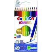 Creioane colorate CARIOCA Acquarell hexagonale 12 culori-cutie