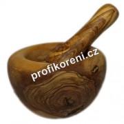 Hmoždíř z olivového dřeva 13 - 14 cm