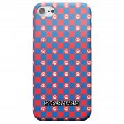 Nintendo Super Mario Checkerboard Pattern Telefoonhoesje - Samsung S7 - Snap case - glossy