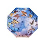 Blooming Brollies Doamnelor pliere complet auto matic umbrela Galleria Swirl ing Fluturi GBFSB