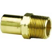 """Viega Propress adaptador de bronce con macho 1/2"""" x 3/4"""" FTG x macho NPT, Paquete de 5"""