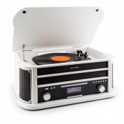 Auna Belle Epoque 1908 DAB retro stereo placă turnantă DAB + Bluetooth FM USB MP3 CD Phono MC alb (RM1-Epoque1908DAB WH)