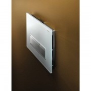 Geberit Sigma40 bedieningplaat met dualflush frontbediening voor toilet 26.6x18.2cm wit glas / aluminium 115600si1