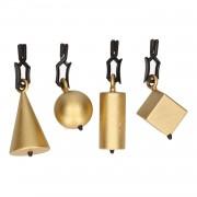 Geen 4x Tafelkleedgewichtjes gouden vormen 5 cm
