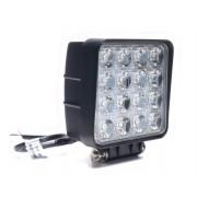 Munkalámpa 16 LED-es (110x110mm) terítő fény