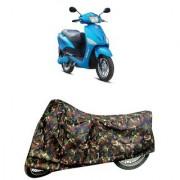 De AutoCare Premium Quality Army/ Junglee Matty Two Wheeler Scooty Body Cover for Hero Electric Optima
