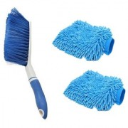 Kurvz Carpet Brush Microfibre Wet and Dry Brush with 2 Microfiber Glove