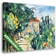 Paul Cézanne: Ház piros tetővel (30x25 cm, Vászonkép )
