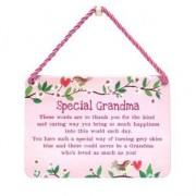 hang-ups! - tinnen bordje - special grandma
