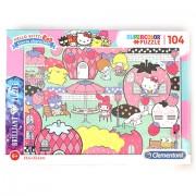 Puzzle Brilliant Hello Kitty Clementoni 104 piese