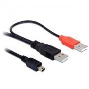 USB 2xA(M)/B(M) Mini Delock 82447