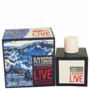 Lacoste Live For Men By Lacoste Eau De Toilette Spray (limited Edition Raymond Pettibon Bottle) 3.4