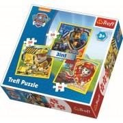 Puzzle clasic copii 3 in 1 - Patrula catelusilor