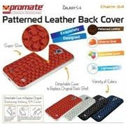 Promate Charm.S4 Premium Patterned-Leather Back Cover-for Samsung Galaxy S4-Maroon