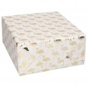 Geen Rollen Inpakpapier/cadeaupapier wit/gouden flamingos print 150 x 70 cm