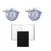 Set Butoni Borealy Ceas Functional White Quartz si Note pad Hugo Boss