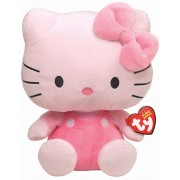 Jucarie de plus Ty 15 cm - Hello Kitty beanie babies roz