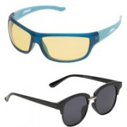 Vast Sports, Wrap-around Sunglasses(Yellow, Grey)