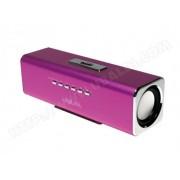 LOGILINK Enceinte portable Discolady Logilink avec MP3 et radio FM inclus (SP0038P) - Rose