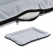 [en.casa]® Pelíšek - pro kočičky a pejsky - se zipem - oxford látka / PP-bavlna - 80 x 60 cm [L] - šedý