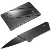 SHOPPERS HUB CREDIT CARD SHAPE FOLDING KNIFE 1 Multi-utility Knife(Black)