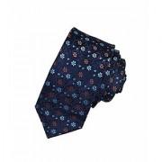 Adorn Premium Designer Flower Design Tie For Men (Royal Blue)