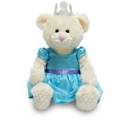 """Cuddle Barn 12"""" Musical """"Princess Penelope"""" In Blue Dress With Crown Plays Princess Music"""