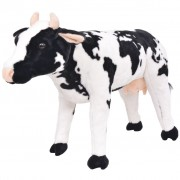 vidaXL Standing Plush Toy Cow Black and White XXL