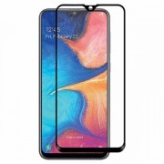 Pelicula de vidro temperado 5D preta para Samsung Galaxy A20e