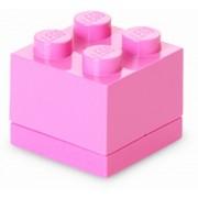 Mini cutie depozitare LEGO 2x2 roz (40111739)
