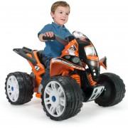 Cuatri Moto Quad Beast Naranja Injusa 6V Freno Eléctrico