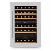 Klarstein Vinsider 35D Built-in Wine Refrigerator 128 Litres 41 Bottles of Wine 2 Zones