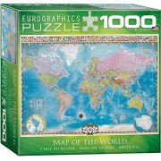EuroGraphics Small Box Map of The World with Flags Puzzle (1000 Piece)