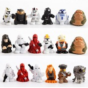18pc set Star Wars Figures Mini Size Stormtrooper Jabba The Hutt Palace Darth Sidious R2d2 R2-D2 Action Figure Model Toys 3cm