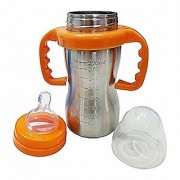 KanHa FasHion Baby Feeding Bottle Stainless Steel 290ml (Color may Vary)