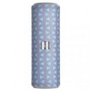 Techly Speaker Portatile Bluetooth Tube Radio FM MicroSD USB 10W Grigio/Blu