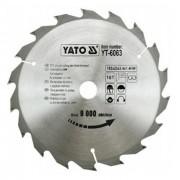 Yato YT-6063 Fűrésztárcsa fához 185x18x20 keményfémlapkás