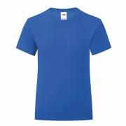 Koszulka dziewczęca ICONIC z odrywaną metką Fruit of the Loom Niebieski