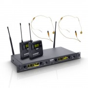 LD Systems WIN42 BPHH2 Dubbel draadloos headset systeem